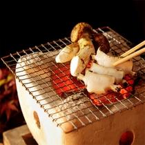 【松茸と鮑の炭火焼】一例