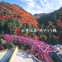 山中温泉観光名所【あやとり橋】 ・秋景色