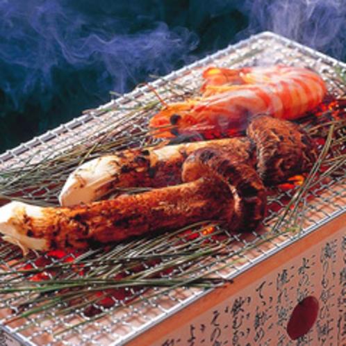 【お料理】松茸炭火焼き(一例)