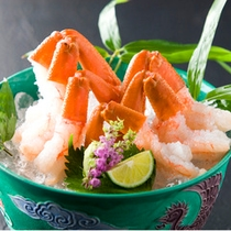 【お料理】蟹の洗い=お刺身(一例)