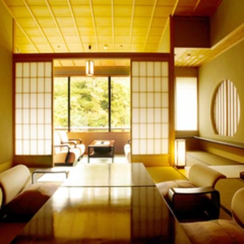 【お部屋】全室渓谷沿い客室一例