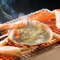 【お料理】ズワイ蟹炭火焼き(一例)