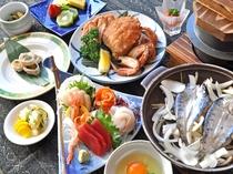 【夕食一例/うたのぼりプラン】歌登の海の幸・山の幸をお楽しみいただけます。