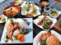 【夕食一例/おもてなしプラン】旬の味覚を余すところなく楽しめるグレードアッププランです。
