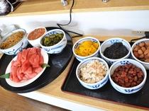 【朝食一例】和食派に嬉しいご飯のお供も揃えております。