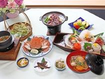 【夕食一例/ふるさと満喫プラン】旬の味覚を存分にご堪能くださいませ。