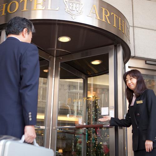 ホテルアーサー(入り口)
