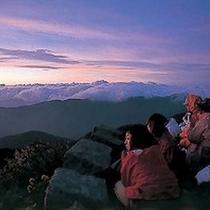 【白山の御来光】天気がよければすばらしいご来光が見れます