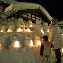 【白峰雪だるま祭り】ユニークな雪だるまの数々♪ずっと見ていても飽きることはありません。