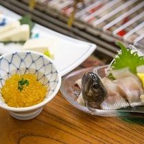 【絶品山の幸】贅を尽くした新鮮な品々。魚尽くしは、最上級の<極~KIWAMI~プラン>だから味わえる