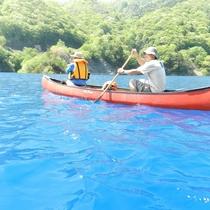 奥四万湖のカヌー体験