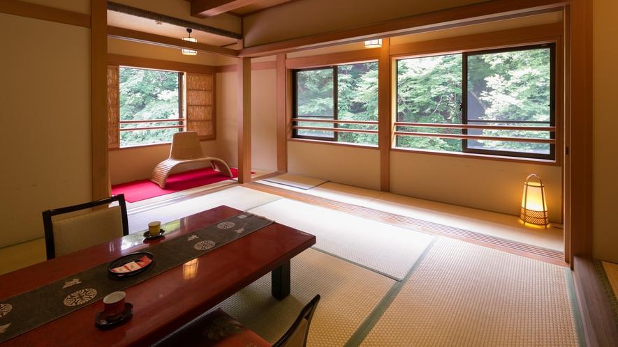 ・しゃくなげ・女性に大人気!四万川を望む純和風、角部屋10畳客室