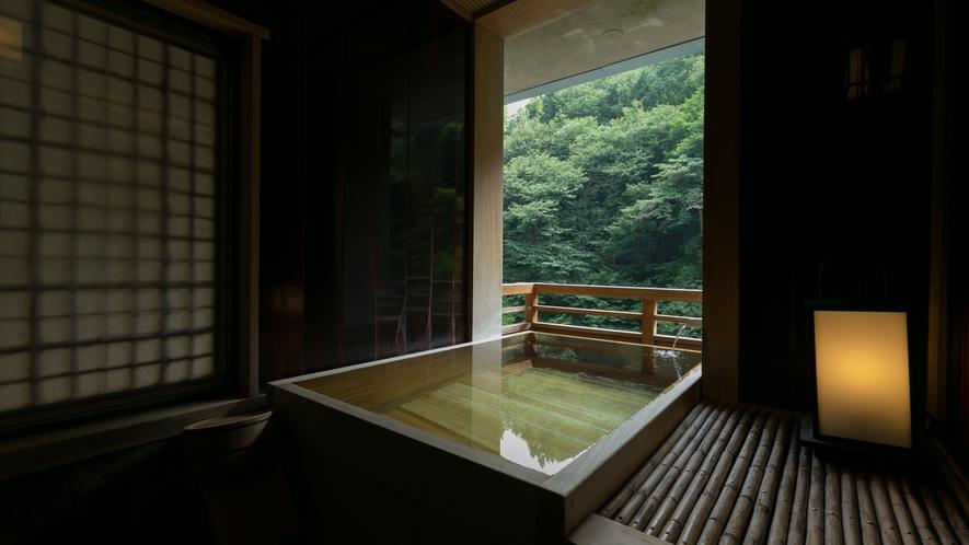・パノラマ感が人気の源泉かけ流し露天風呂付き和室