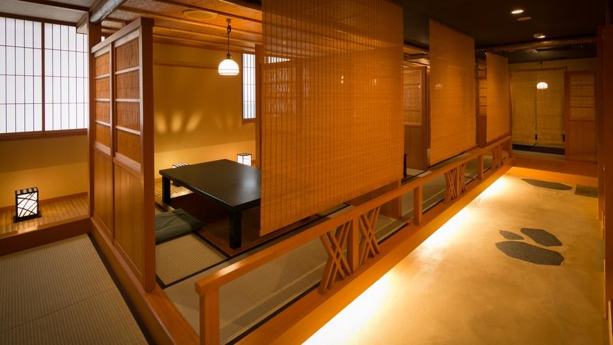 ・川床をイメージした個室お食事処「料亭 篁」