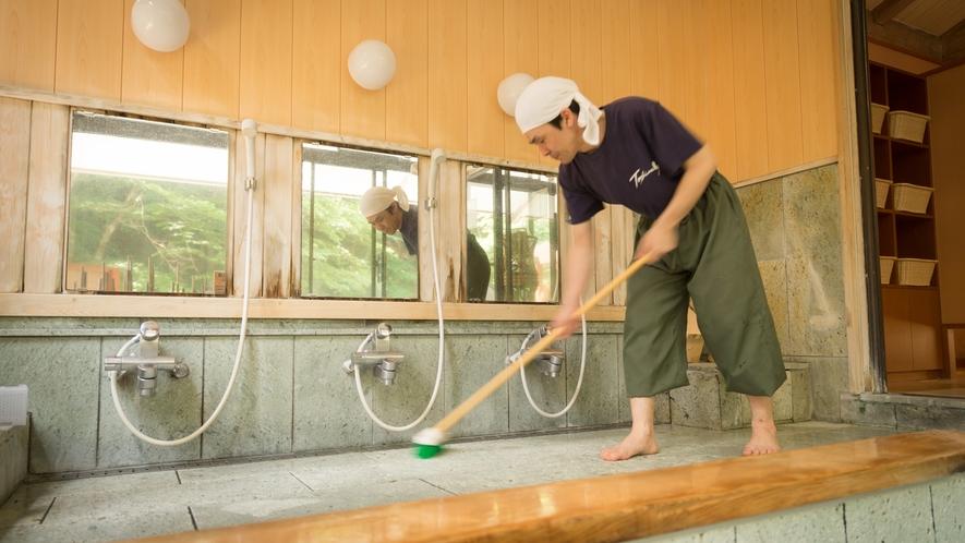 ・湯量豊富な豊島屋は、毎日全ての湯を入れ替え清掃をいたします