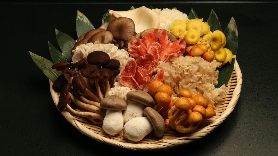 ・秋の味覚、見たこともないようなきのこ類!様々な調理法で頂けます。