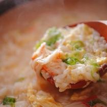 【冬】料理一例 やはりシメはこれ!蟹雑炊