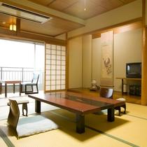 【一般客室 一例】畳のお部屋と縁側の昔ながらの客室。6帖、8帖、10帖ございます