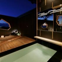【離れ 季音庵】湯は温泉。温泉も含めた貸切感の贅沢さを心行くまでどうぞ(写真は風乃音)