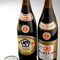 【素材一例】地産の醤油。海の幸の味わいを引き立てるため、長年地元で愛されている醤油です