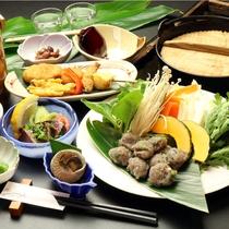 【トッピーつみれ鍋】トビウオを使った人気の『トッピーつみれ鍋』のコース一例