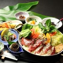 【地魚の鍋】シメはバターリゾット!地元の魚と野菜を使った『地魚の鍋』のコース一例