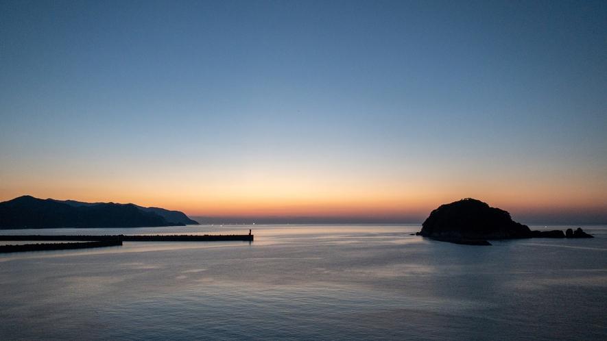 日本海夕陽2