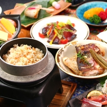 【上撰コース】釜飯やあら炊きも付いてお腹いっぱい間違いなしのコース