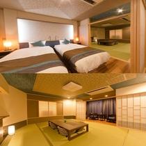 新OPEN♪【海の座】露天風呂付 和洋室 禁煙タイプ 504号室■