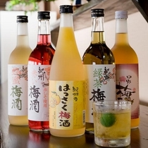 紀州名産梅酒はもちろん♪たくさんの地酒を取り備えております。