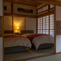 一棟貸し古民家【紫陽花】寝室