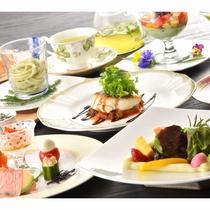 季節のコースディナー一例