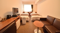 ◆【客室】ツインルーム 20.5平米 ベッドサイズ;110cm×205cm 定員1~2名