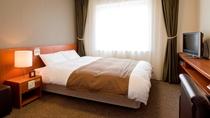 ◆【客室】ダブルルーム 16.5平米 ベッドサイズ;140cm×205cm 定員1~2名