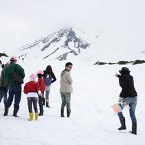 冬・旭岳山頂からの景観