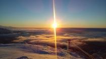 旭岳の神秘的な風景。