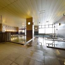 大浴場【石の湯】大理石を使った野趣あふれるお風呂です。