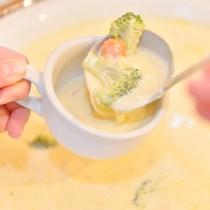 【朝食ブッフェ】洋食一例 ~野菜の甘みだけで仕上げたミルクスープ