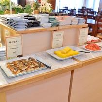 【朝食ブッフェ】和食と洋食をお楽しみいただけます。