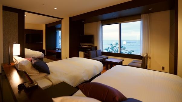 海の見える角部屋/コーナーフォース/禁煙室♪/4ベッド