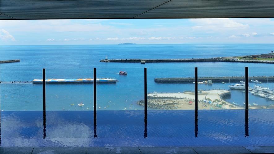 海を眺める絶景♪展望温泉大浴場(男性用露天風呂イメージ)