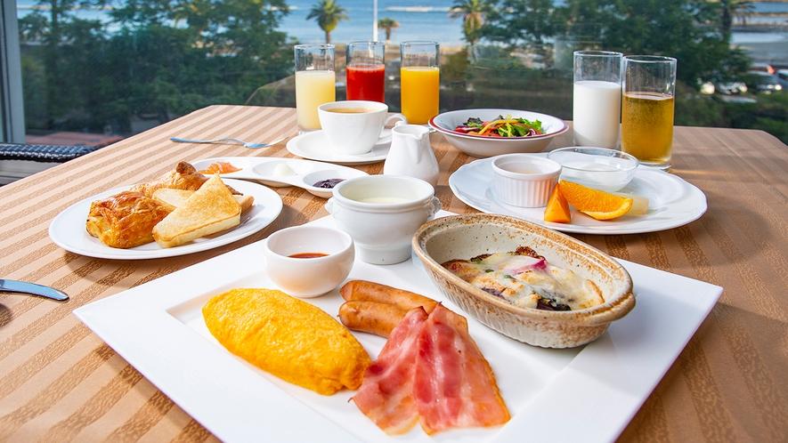 朝食(アメリカンブレックファースト 一例)