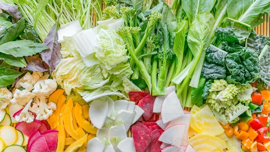 契約農家などから仕入れる新鮮なお野菜(イメージ)