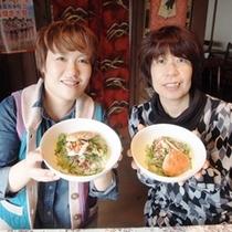 自分達で作るセコ丼は最高♪「セコ丼体験」好評です。