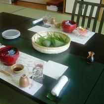 客室での食事