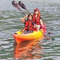 二人で息を合わせて♪楽しいジオカヌーを丹後で体験(^^♪