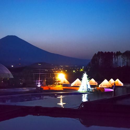 幻想的な富士山を背後に。GRAMPING体験 - in Tokinosumika -
