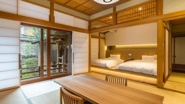 離館◆四季亭【掛流し露天風呂】和室10畳+次室◆貸切露天無料