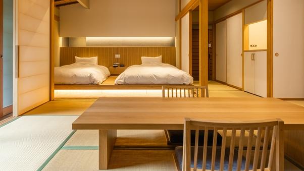 離館【天然温泉*露天風呂付き】和室10畳+次室 <ベッド>