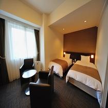 ◆スタンダードツインルーム 22㎡ ベッドサイズ100cm×205cm×2台